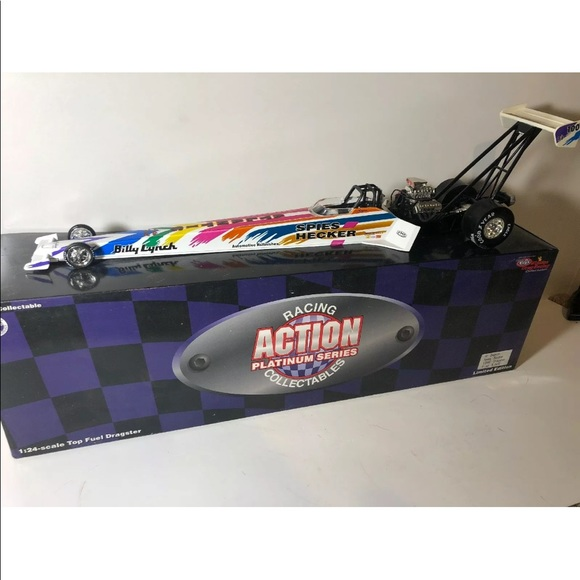 Racing action NHRA Top fuel dragster